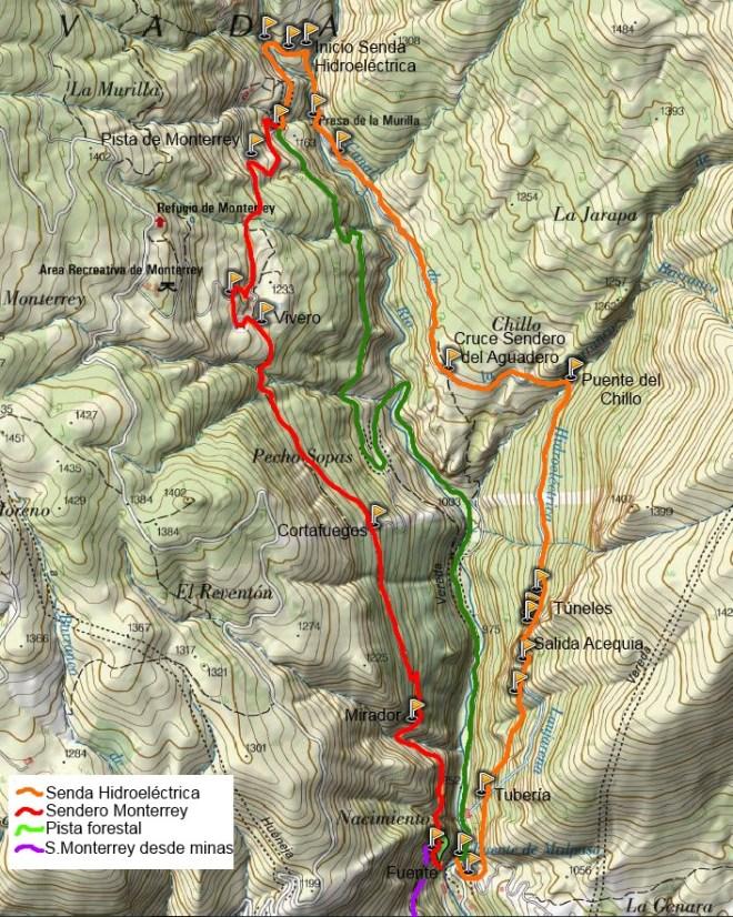 Mapa Sendero de la Hidroeléctrica