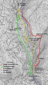 Mapa de la Senda de la Hidroeléctrica PR-A 36