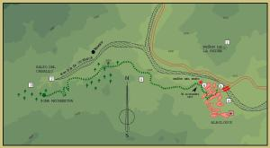 Croquis del Sendero del Salto del Caballo (Del cartel del sendero)