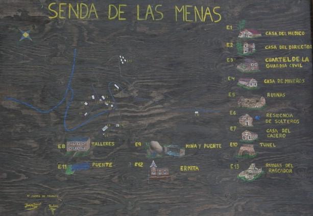 Cartel Senda de Las Menas