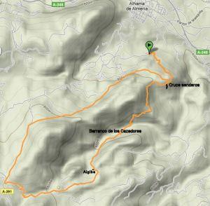 Mapa Ruta Barranco de los Cazadores