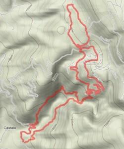 Mapa de la Senda de los Lavaderos
