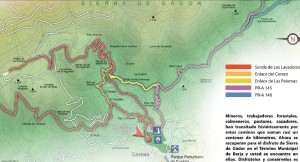 Mapa de senderos de Castala