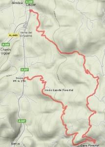 Mapa del Sendero de los Pradillos PR-A 296