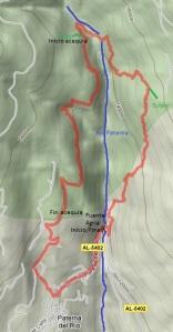 Mapa Senda del Agua - Castañar de Paterna