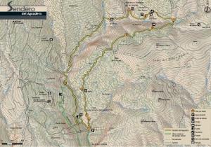 Mapa sendero del Aguadero PR-A 37