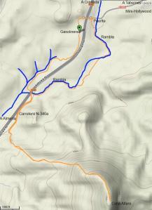 Mapa subida al Alfaro
