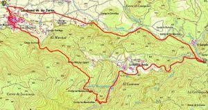 Mapa del sendero de Los Marcharles PR-A 331