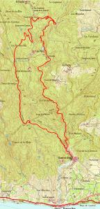 Mapa del Sendero Guainos (PR-A 341)