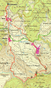 Mapa sendero Almócita PR-A 360