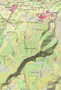 mapa Chaparral - Acequia del Lugar (PR-A 203)