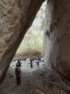 Túnel de rocas del río Aguas