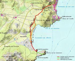 Mapa Sendero de los Genoveses