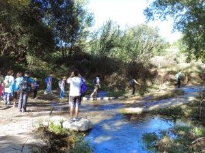 Cruzando el río Andarax