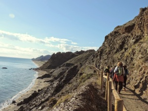 Hacia la playa de Bolmayor
