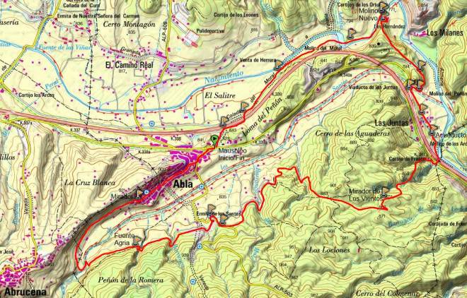 Mapa PR-A 354 Molinos y Fuentes