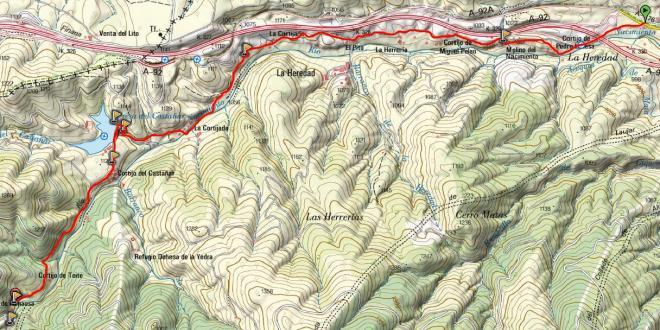 Mapa Ruta de los Molinos de Fiñana