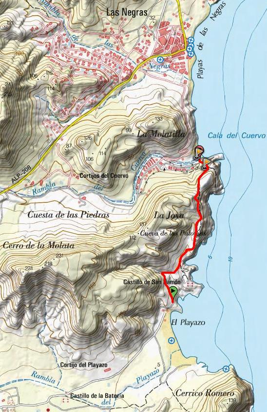 Mapa del Sendero de la Molata