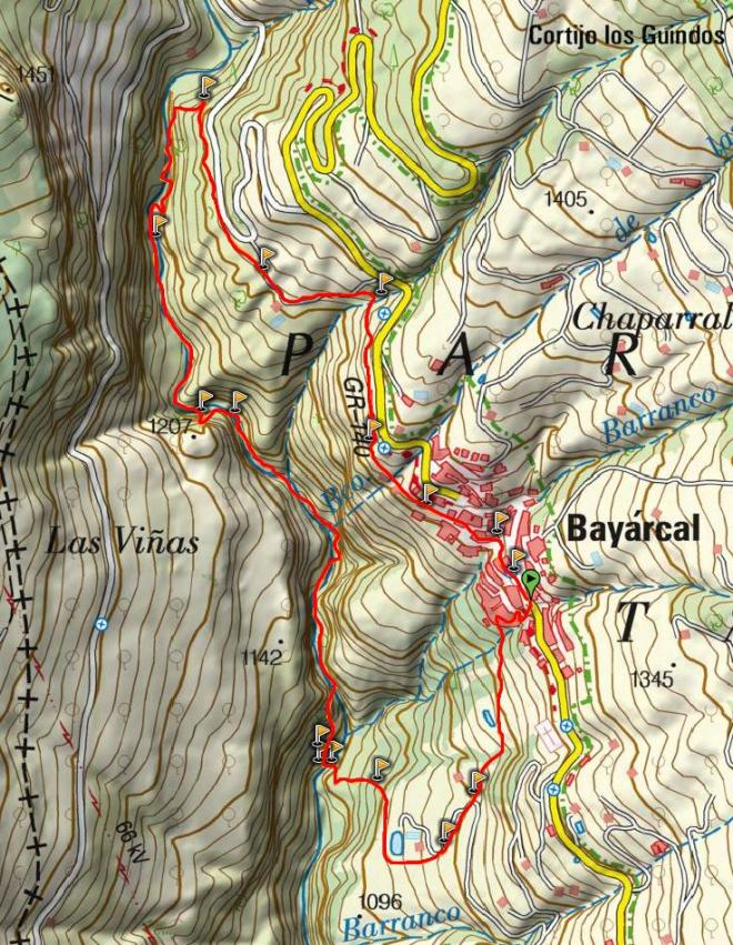 Mapa Sendero Río Molinos (SL-A 148)