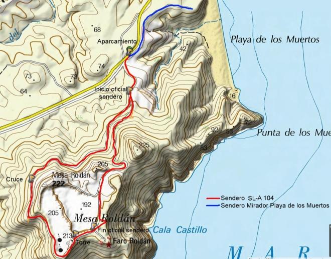 Mapa Mesa Roldán SL-A 104