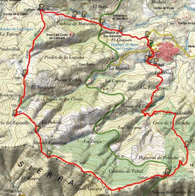 Mapa Circular de Tahal (PR-A 121)