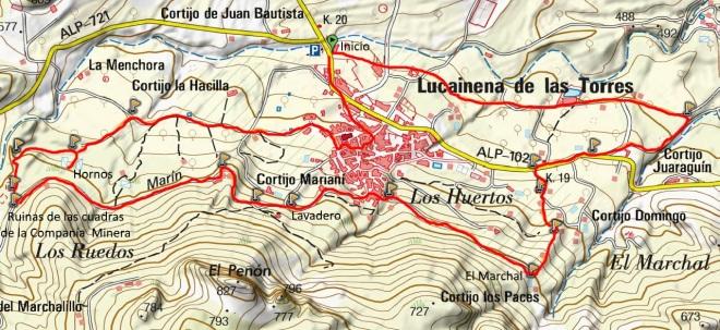 Mapa Senda Minera Lucainena SL-A 62