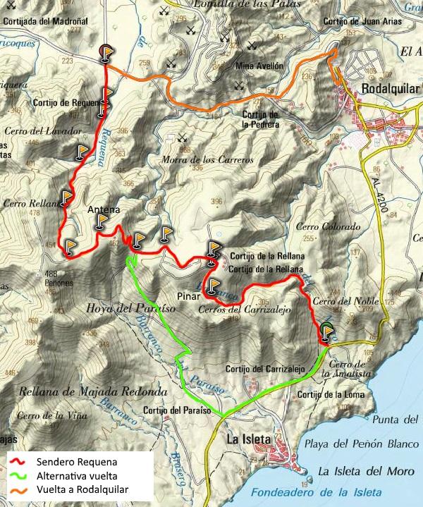 Mapa del Sendero Requena