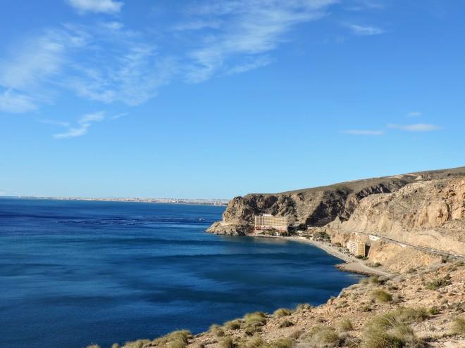 Playa del Palmer y costa de Roquetas de Mar