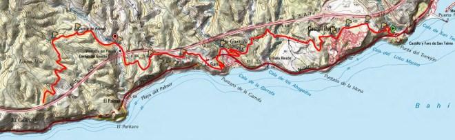 Mapa Camino Viejo Aguadulce