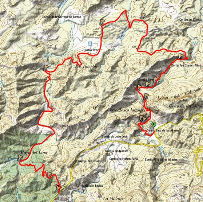 Mapa Ruta Teresa - Los Murtales