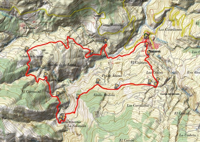 Mapa sendero El Carrascal PR-A 362