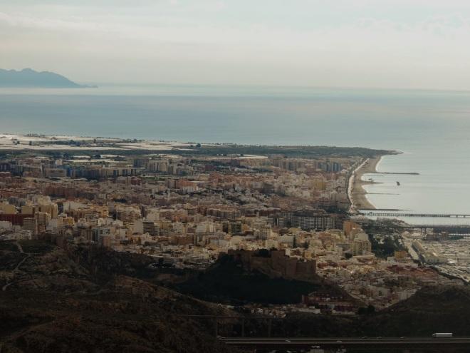 Almería desde la cumbre del Cerro Majano