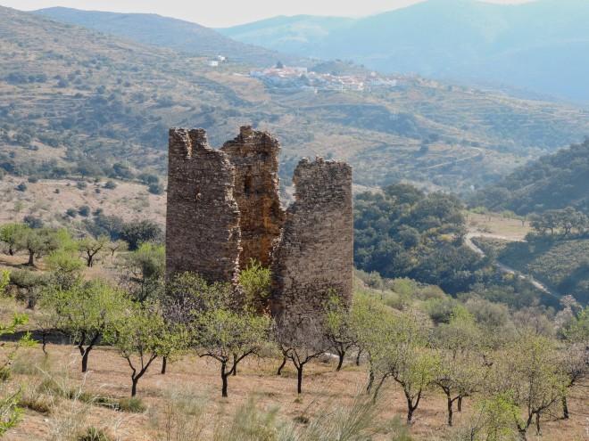 Torre de Alhabia. Al fondo, Benitagla