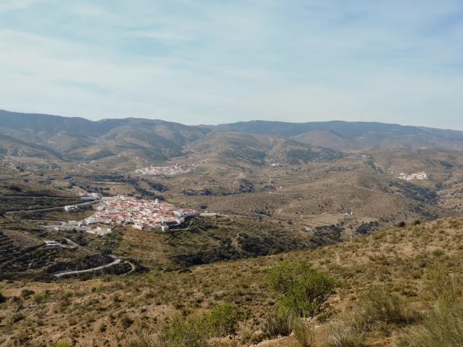 Alcudia, Tahal y Benitorafe. Al fondo la cara norte de la Sierra de los Filabres.
