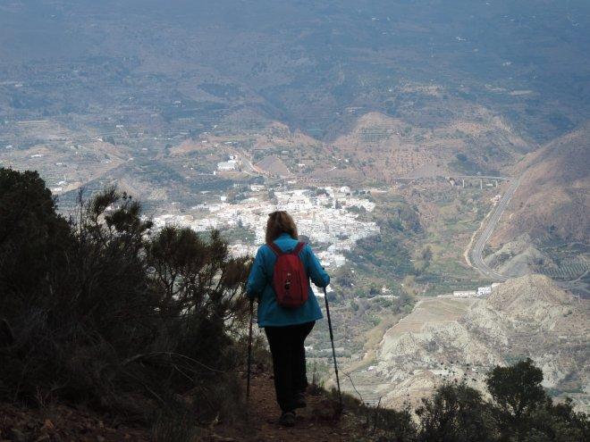 Vista de Canjáyar en el descenso
