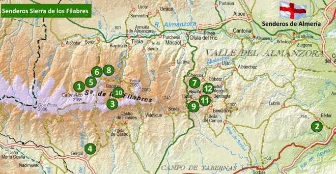 Mapa Sierra de los Filabres