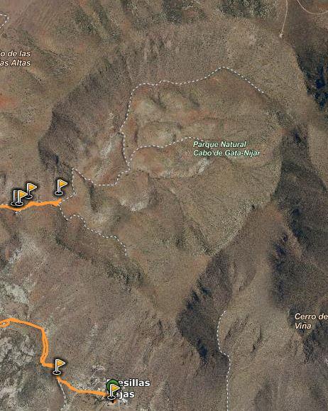 Imagen satélite Caldera de Majada Redonda