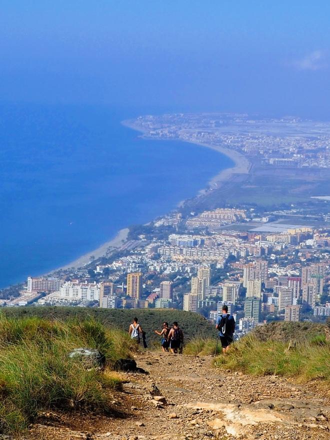 Imagen de Aguadulce y costa de Roquetas desde el Cerro de las Bolinas